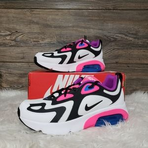 New Nike Air Max 200 White Hyper Pink Sneakers